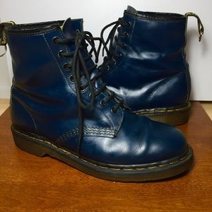 Dr. Martens navy blue Boots made in England
